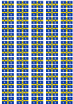 Durham County Council (to 2013) Flag Stickers - 65 per sheet